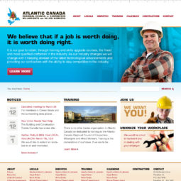 Atlantic Canada Regional Council of Carpenteres Millwrights and Allied Workers Website Design and Development - Home