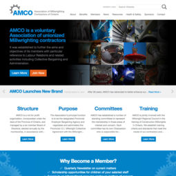 Association Millwrighting Contractors Ontario Website Design and Development - Home