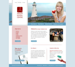 Avalon Dental Website Design - Home