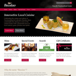 Bacalao Website Design and Development - Home