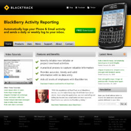 BlackTrack Website Design - Home