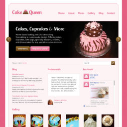 Cake Queen Website Design and Development - Home