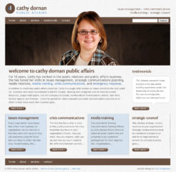 Cathy Dornan Website Design and Development - Home