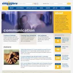 Employers Council Website Design - Home
