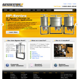 Generation2 Filtration Website Design and Development - Home