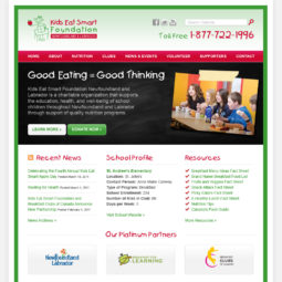 Kids Eat Smart Website Design - Home