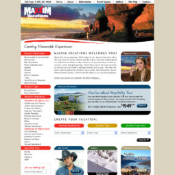Maxxim Vacations Website Design - Home