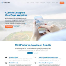 Minisites Website Design and Development - Home