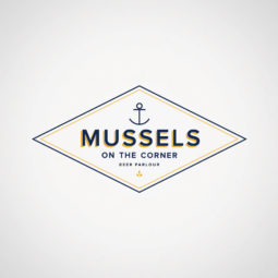 Mussels on the Corner Beer Parlour Logo Design