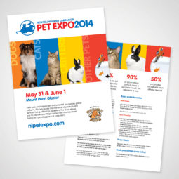 Newfoundland Labrador Pet Expo 2014 Flyer Design