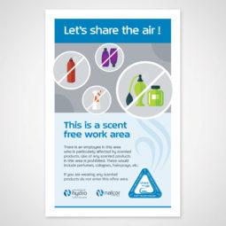 Newfoundland and Labrador Hydro Scent Free Poster 2 Design