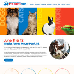 Newfoundland and Labrador Pet Expo Minisite Design and Development