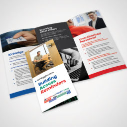 OCIO Building Security Reminders Brochure Design