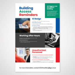 OCIO Building Security Reminders Poster Design