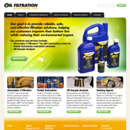 Oil Filtration Solutions Website Design and Development - Home