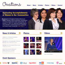 Ovations Website Design and Development - Home