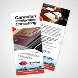 PF Collins Immigration Rack Card Design