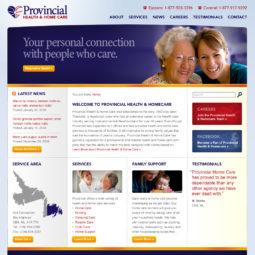 Provincial Homecare Website Design and Development - Home