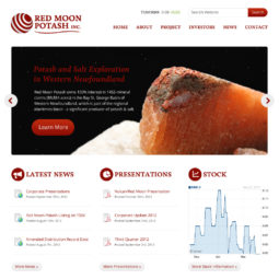 Red Moon Potash Website Design and Development - Home