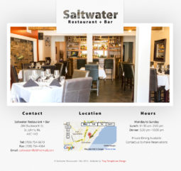 Saltwater Restaurant Website Design and Development - Home