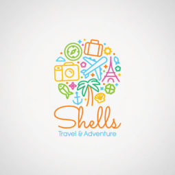 Shells Travel & Adventure Logo Design