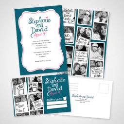 Stephanie and David Wedding Invitations Design