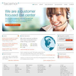 Tacamor Website Design - Home