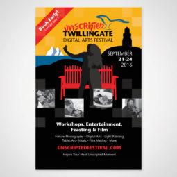 Unscripted Twillingate Poster Design