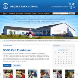 Virginia Park School Website Design and Development - Home