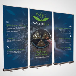 WaterLily Pop Up Banners Design