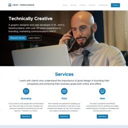 Troy Templeman Website Design and Development - Home